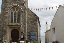 St Just church opposite Seaforth, in Gorran Haven