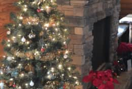 Waynesville Smokies Overlook Lodge Cabin - Christmas Decorations