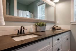 Enjoy your space with this double vanity suite. Enjoy the amenities of luxury living.