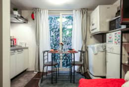 Kitchen and dining space North Cottage| Short term stay|| best family stays in Tokyo | Tokyo Family