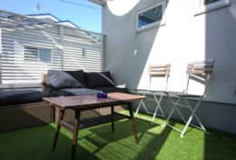 Sunny Patio off main living room| Koenji House| best family stays in Tokyo | Tokyo Family Stays|
