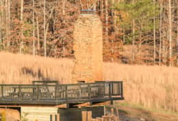 chimney/patio/picnic aea for guests