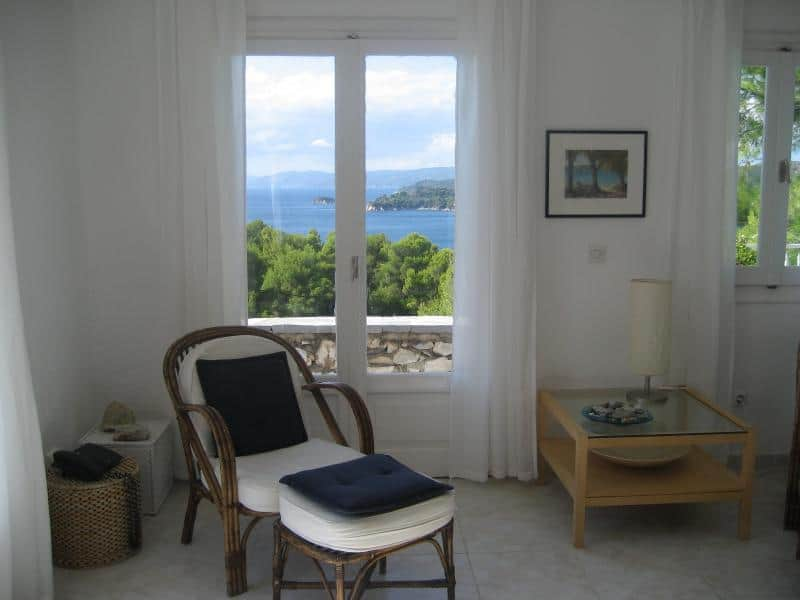 Living Room Reading Area with Sea View