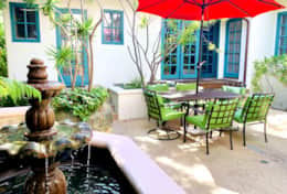 Casa Paloma Courtyard Fountain Dining