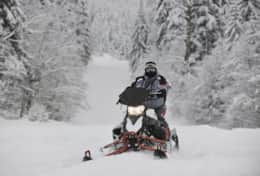 K61 Harper Cottage – Experience driving a snowmobile through snowy forests & over frozen lakes