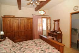 Bedroom 4 with en suite bathroom and optional air-conditioning