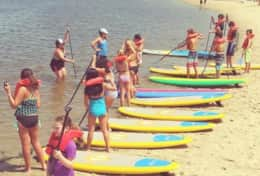 Stand-up paddleboard rentals are available across the street from the home