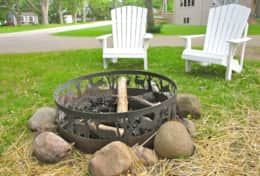 Enjoy the lake view from the Adirondack chairs while roasting marshmallows!