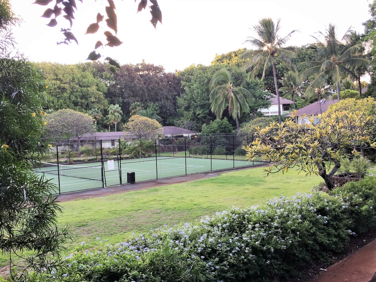 Tennis Court and Clubhouse