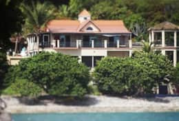 Villa from ocean - Friss Bay