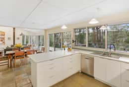 Kitchen with a view - The River House Gipsy Point - Good House Holiday Rentals