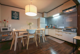 Spacious kitchen and dining Shinjuku Family House| Tokyo Family Stays |Spacious |