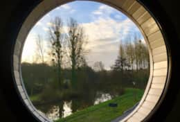 Stunnning views from the porthole window