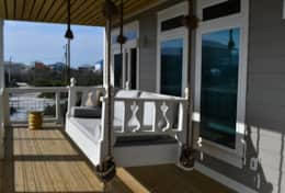 The heavenly bed swing overlooking the gulf from the second floor deck