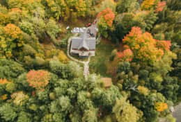 Aerial view - plenty of privacy!