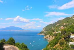 Sea views from Vico Equense's main road (just 100 metres from Casa Micla)