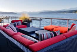 Vacation-Rental-hood-canal-resort-walls-of-glass-beach-rental-deck-outdoor-sofa