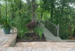 Steps that lead down to the Waccamaw River