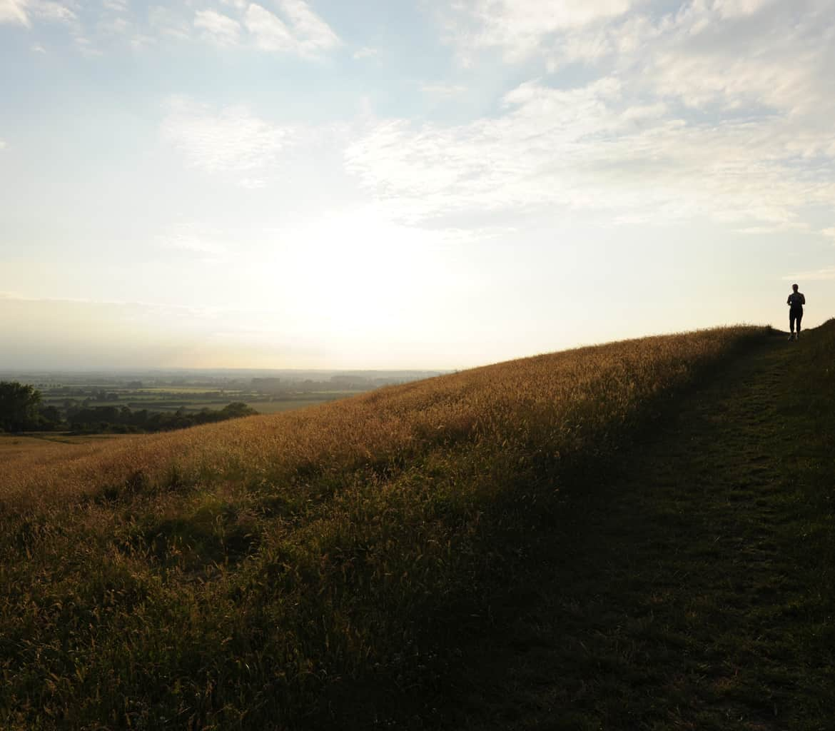 Wallingford Wittenham clumps running tracks