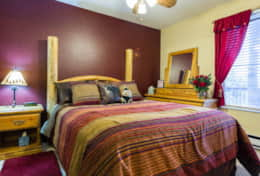 bcomfortable downstairs bedroom fully furnished - ceiling fans, HD tv