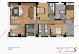 Level 4 - Four Bedrooms apartment