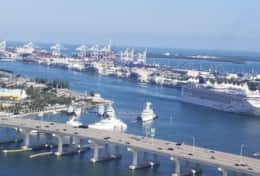 Port of Miami view