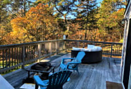 Fall view of the deck