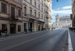 The famous Via del Corso and Piazza Venezia