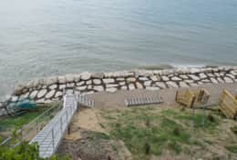 View of revetment, stairs and tram landings, 8/19.