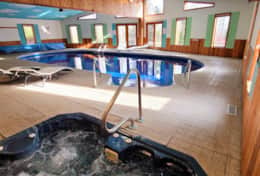 Private Indoor Heated Swimming Pool and Hot Tub