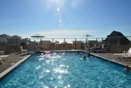Brand new heated saline pool is just beyond the fire pits, open seasonally from Mem Day - Sept 30