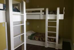 The kids will LOVE the bunk room.
