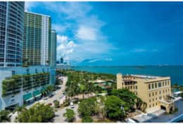 Furnished balcony with amazing views of Biscayne Bay and park
