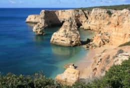 Cliff top view of Praia Marinha