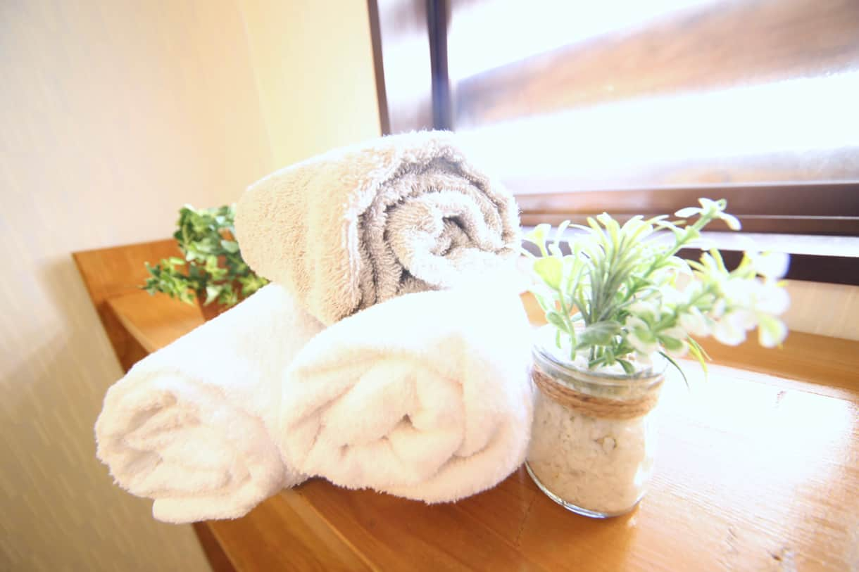 We provide towels, shampoo, conditioner, and body soap (and a toothbrush if you forgot yours!)
