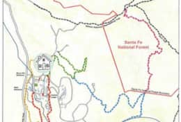 Bishop's Lodge Hiking trail map - several trailheads are right near the villa