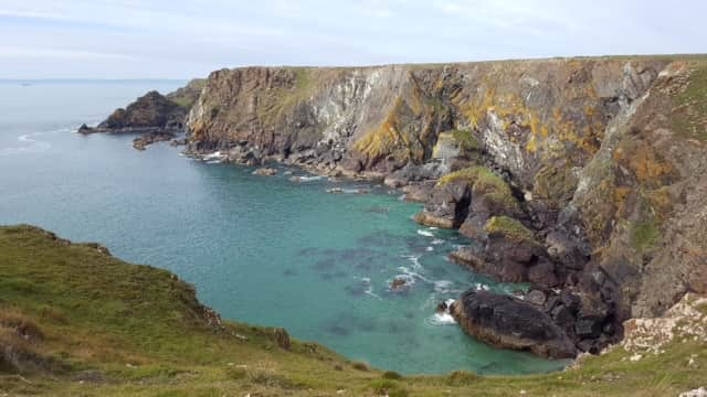 Kynance Cove to Mullion Coast path 10 mins drive away