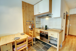 Dining area and kitchen - compact and practical