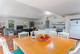 Stroll To The Sea - Open Plan Dining to Loungeroom - Good House Holiday Rentals