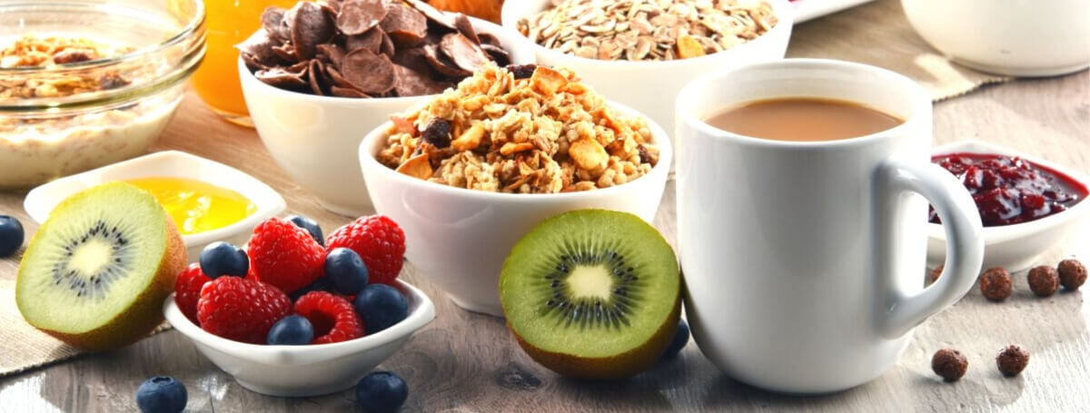 Complimentary Breakfast including Fresh Fruit Cereal Coffee and Tea