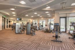 Fitness Center with a variety of machines