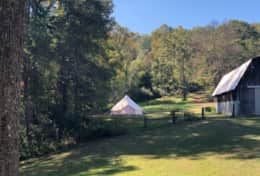 Yurt Camping Available! 75 yards from Cabin.
