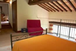 The extra cottage at Villa Badia, open floor