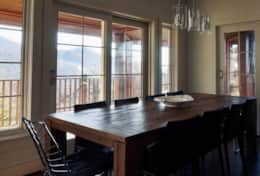 Dining room table with seating for 10