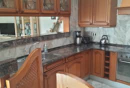 Kitchen has all the appliances you need including dishwasher, coffee machine etc