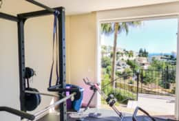 Private gym with a view