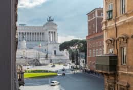 Amazing view of Piazza Venezia from the window