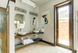 Private air conditioned bathrooms in each villa