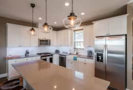 Enjoy large kitchen island as the center of the gathering.