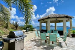 Outdoor dining and grill deck